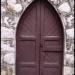 Une porte néo-gothique