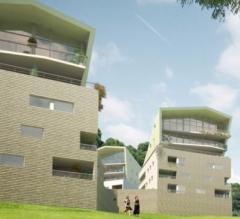 Projet immobilier crédit agricole, parc, Annecy