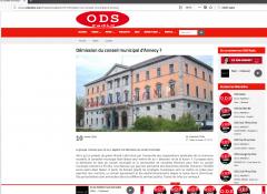 Annecy, conseil municipal, grève, ODS radio