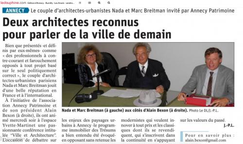 Annecy, Breitman, Alain Bexon,