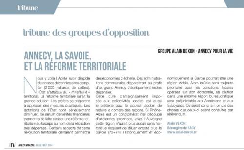 Annecy, Annecy Magazine, opposition, Alain Bexon