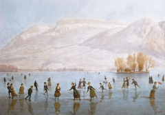 Annecy, hiver, lac d'Annecy