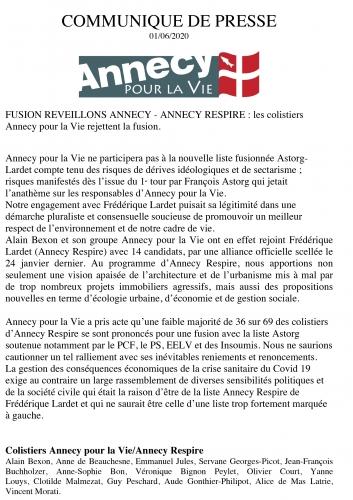 Annecy, Rigaut, Lardet, Astorg, Bexon