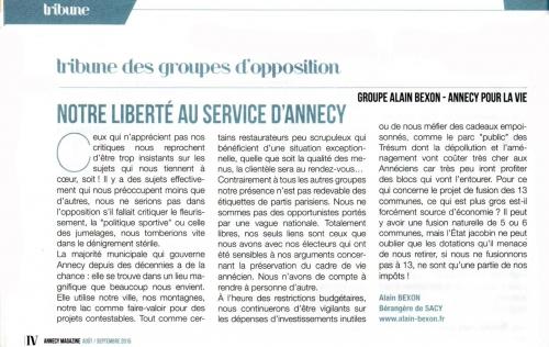 Annecy, indépendants de spartis